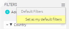 set def filter