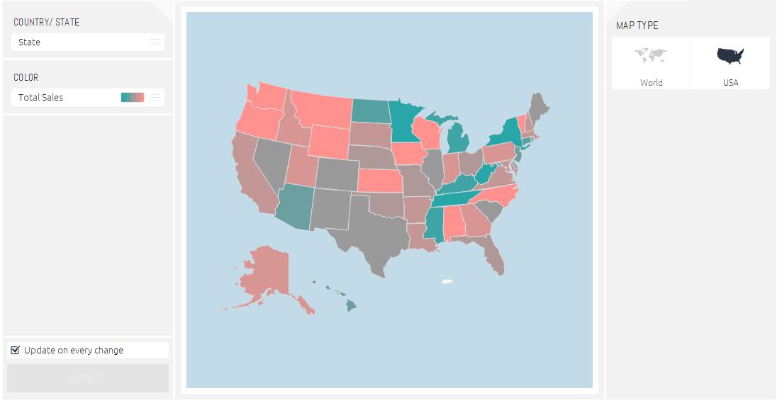 Area Map Sisense Documentation - Adding text to us map