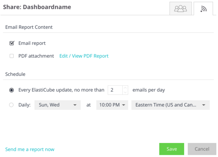 Sending email dashboard reports sisense documentation in the shared dashboard window click the tab ccuart Image collections