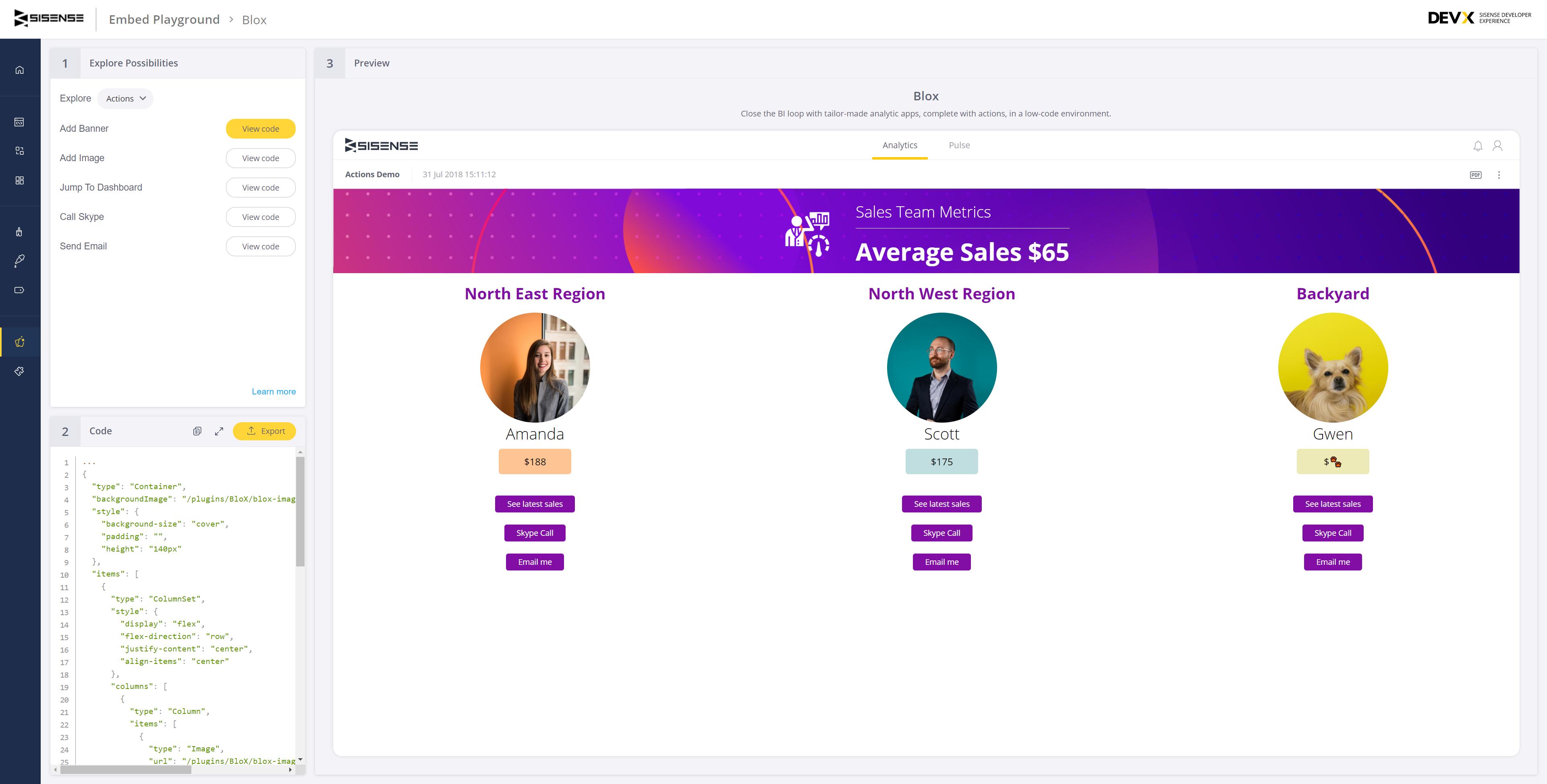 Sales team metrics