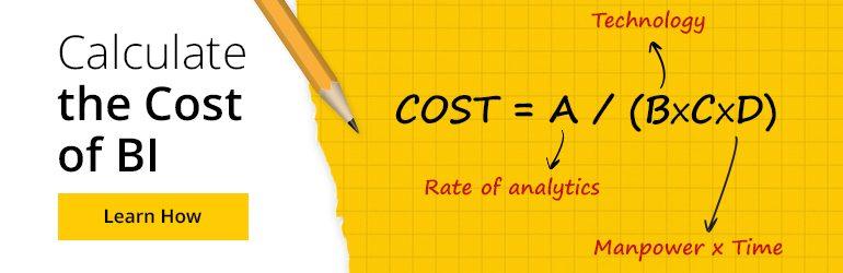 calculate the cost of BI