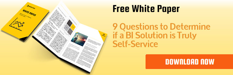 Banner: 9 questions to determine if a BI solution is truly self service