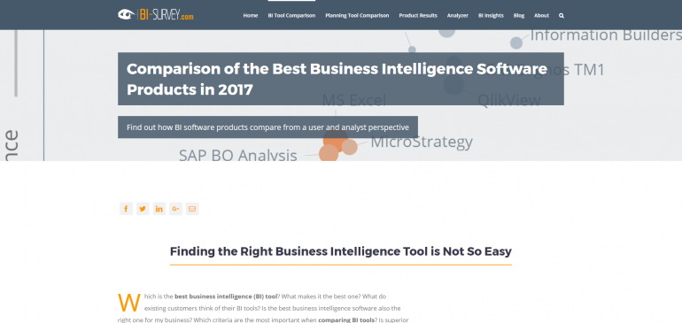 business intelligence tools comparison pdf