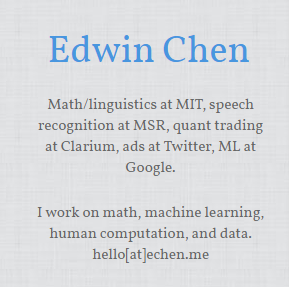 Edwin Chen 12 Websites & Blogs Every Data Analyst Should Follow