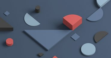 Geometric shapes on a gray background.