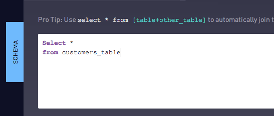 From sql function