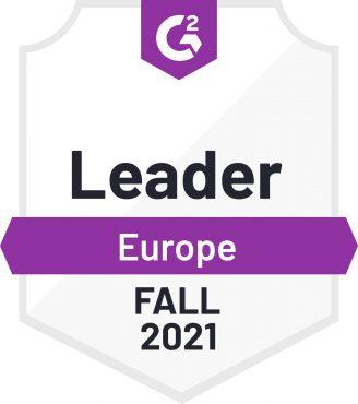 G2 Europe Leader Medal - Fall 2021
