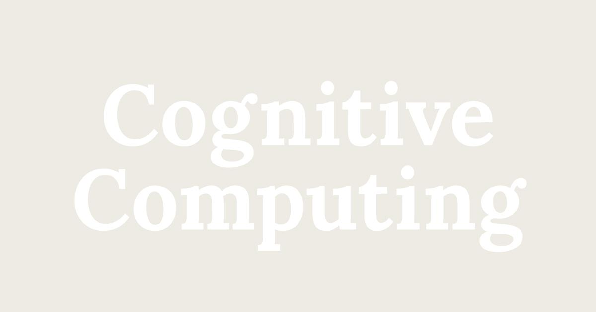Cognitive Computing | Sisense