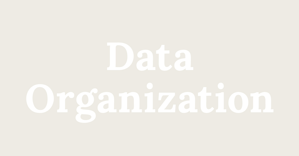 Data Organization Featured Image