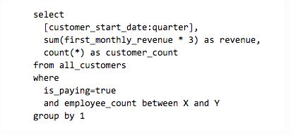 Self service query code