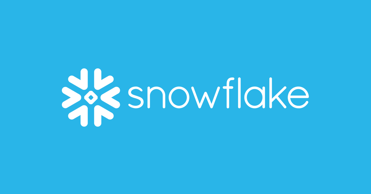 """Snowflake logo with word """"Snowflake"""""""