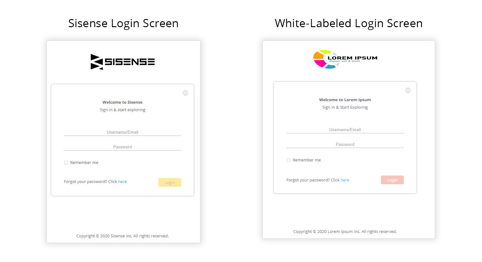 TIP 1 Sisense Login Screen 1540x839 1 Five Design Tips to Deliver a Seamless Embedded Analytics Experience