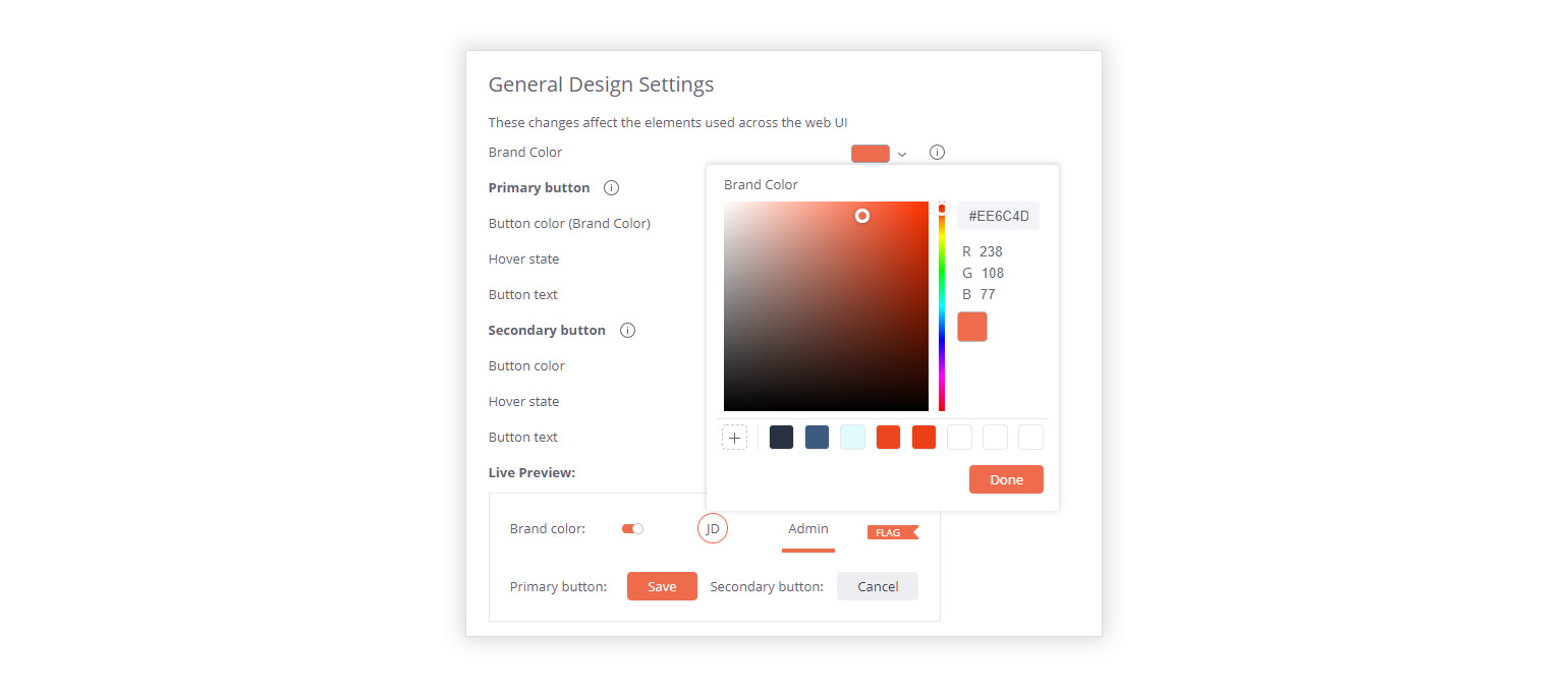 TIP 2 SaveColorPaletteToFavorites 1540x677 1 Five Design Tips to Deliver a Seamless Embedded Analytics Experience