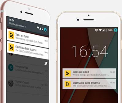 Mobile notifications in Sisense BI software