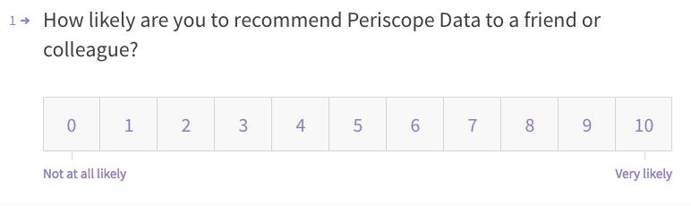 Periscope survey question