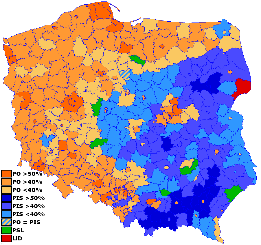 poland 2007 election dashboard