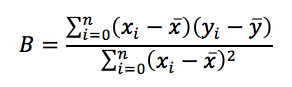 Predicting b formula