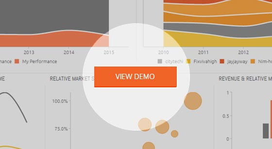 Relative Market Share Dashboard Template