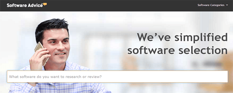 Screenshot of Software Advice website