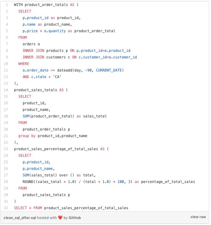 SQL Code block 2